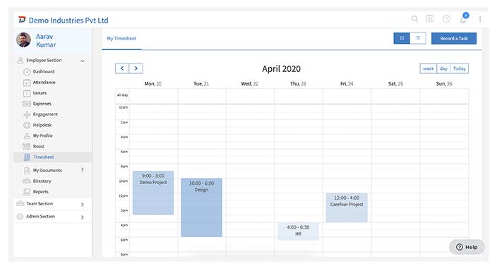 Timesheet Calendar